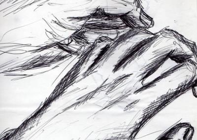 Sketches of hands - pen