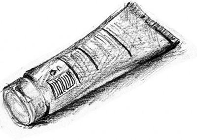 Plastic tube - quick sketch
