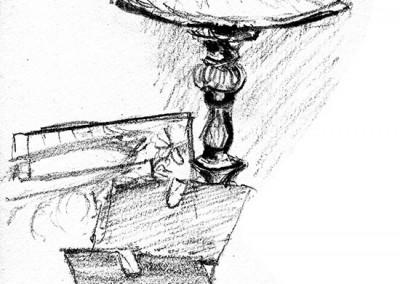 Lamp still life - quick sketch