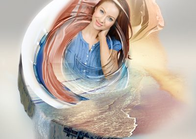 In A Whirl. Made using only four random images supplied. Copyright Creative Bytes.