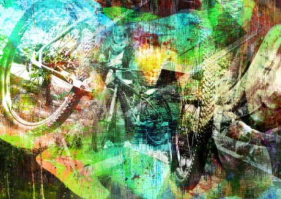 Stuck In A Memory Cycle. Copyright Creative Bytes. Made with three random images supplied.