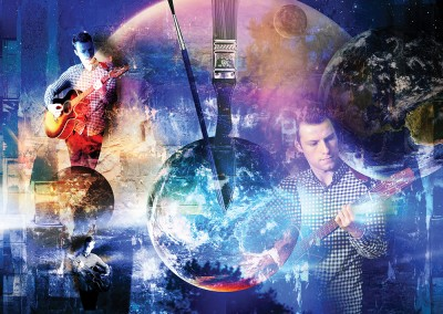 Earth's Final Encore. Collage incorporating four supplied images, with a theme - the earth and time running out. Copyright Creative Bytes.