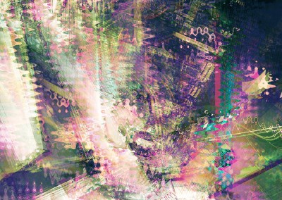 Four Abstracts Green & Purple. Copyright Creative Bytes.