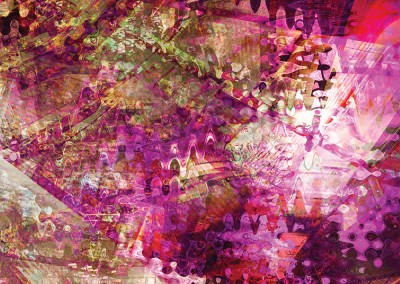 Four Abstracts Purple 1. Copyright Creative Bytes.