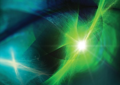 Abstract Green and Blue. Copyright Creative Bytes.
