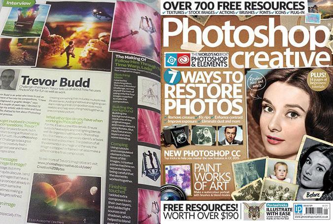 My interview in Photoshop Creative magazine