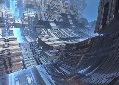 Alien Ship Abstract. Copyright Creative Bytes.